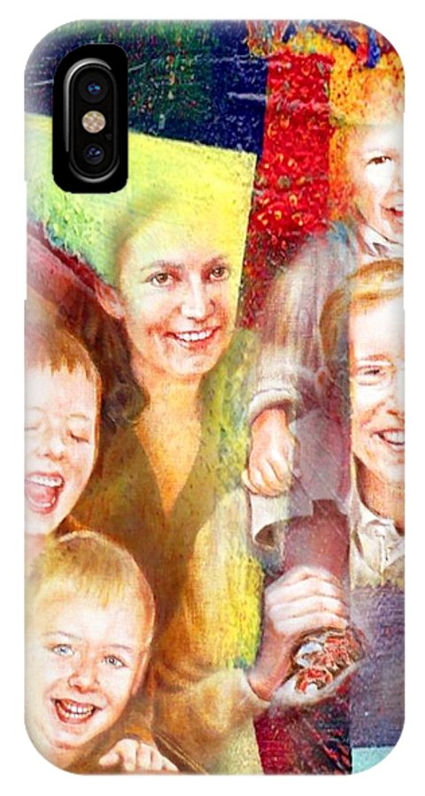 Family IPhone X Case featuring the mixed media Walk by Danielle Arnal
