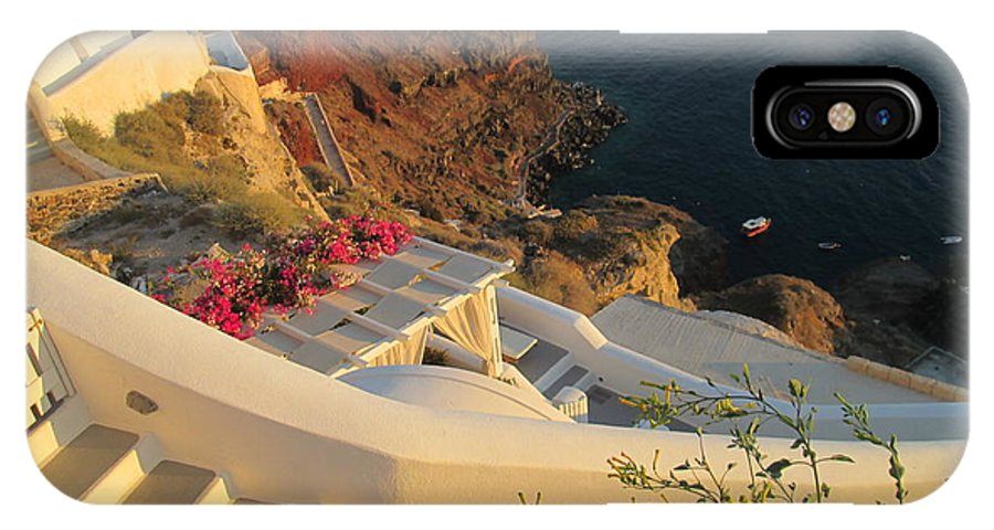 Greece IPhone X Case featuring the photograph Walk Into The Sunset by Aimee P