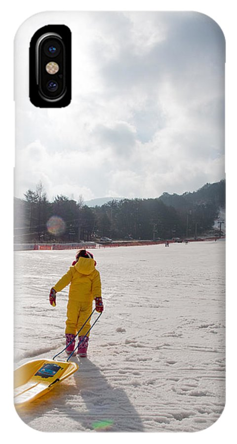 IPhone X Case featuring the photograph Walking The Long Walk by Jack Teh HM