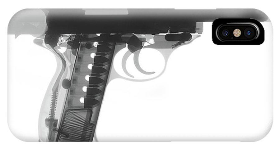 Gun Collectible IPhone X Case featuring the photograph Walther P38 X-ray Photograph by Ray Gunz