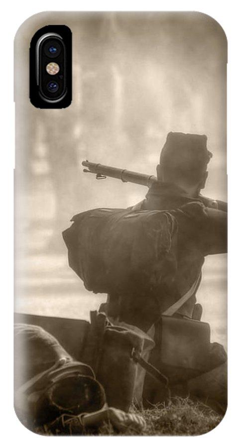 Civil War IPhone X Case featuring the photograph War by Nikolyn McDonald