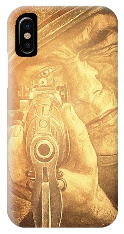 War Art IPhone X Case featuring the photograph War The Heat Of The Battle by Patricia E Sundik