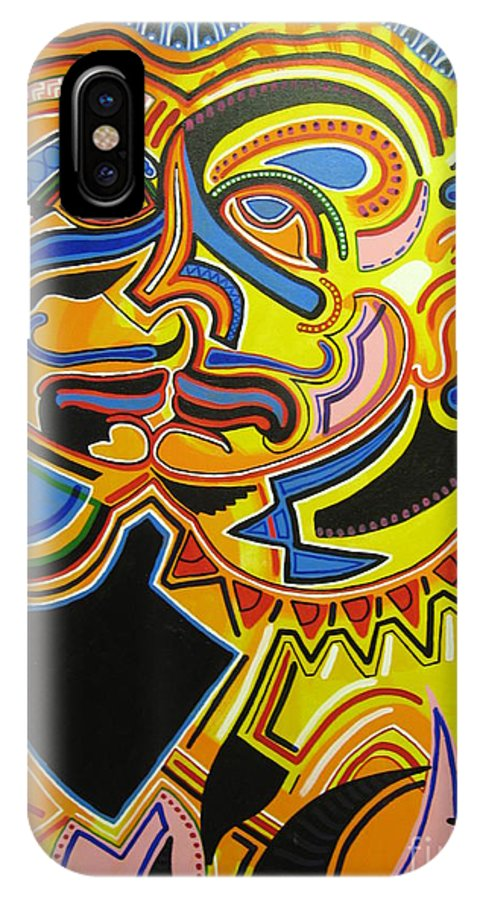 Michael Kulick IPhone Case featuring the painting War Within by Michael Kulick