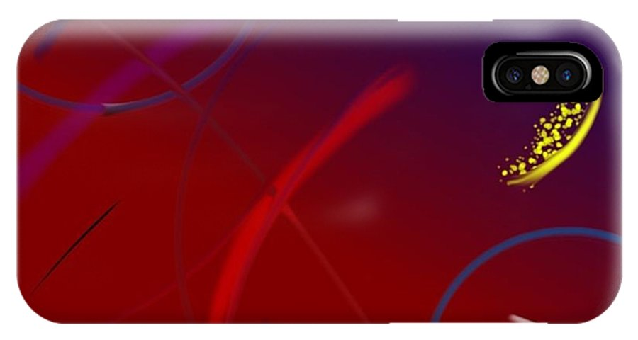 Digital IPhone X Case featuring the digital art Warm Bounce by Tee Taylor