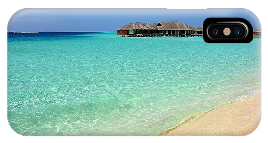 Maldives IPhone X Case featuring the photograph Warm Welcoming. Maldives by Jenny Rainbow
