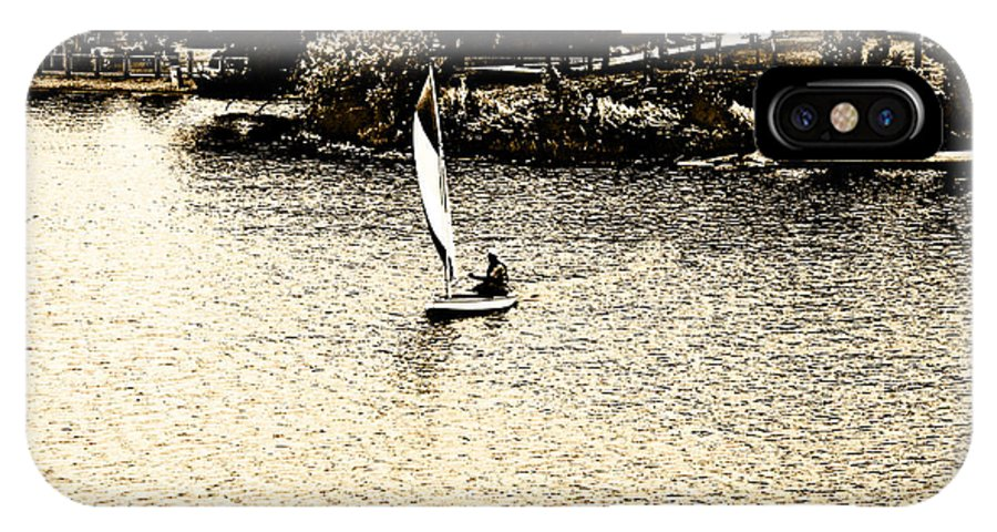 Sail Boat IPhone X Case featuring the photograph Wascana-18 by David Fabian