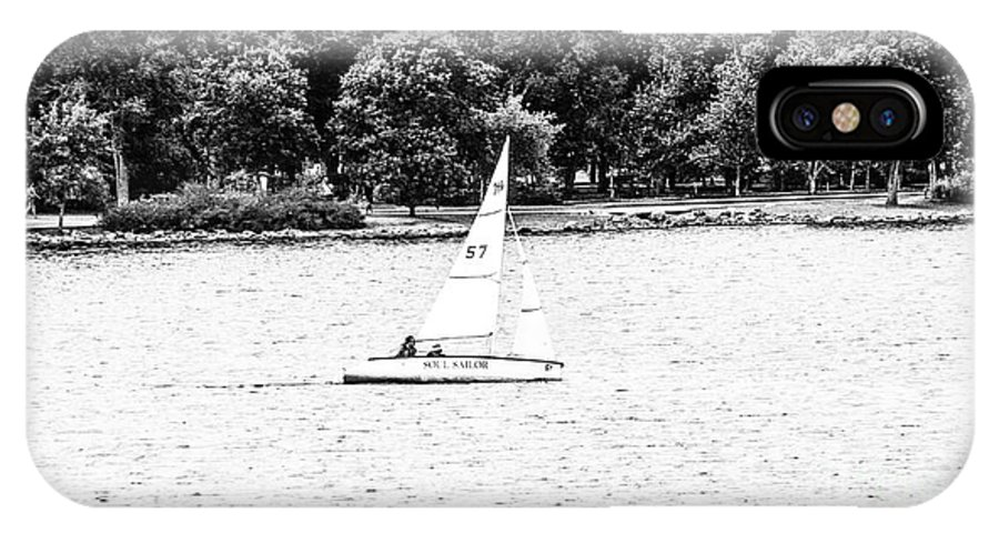 Soul Sailor IPhone X Case featuring the photograph Wascana-23 by David Fabian
