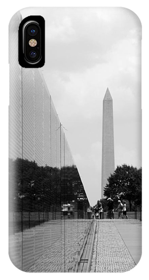 Reflection IPhone X Case featuring the photograph Washington Memorial by Rhonda Burger