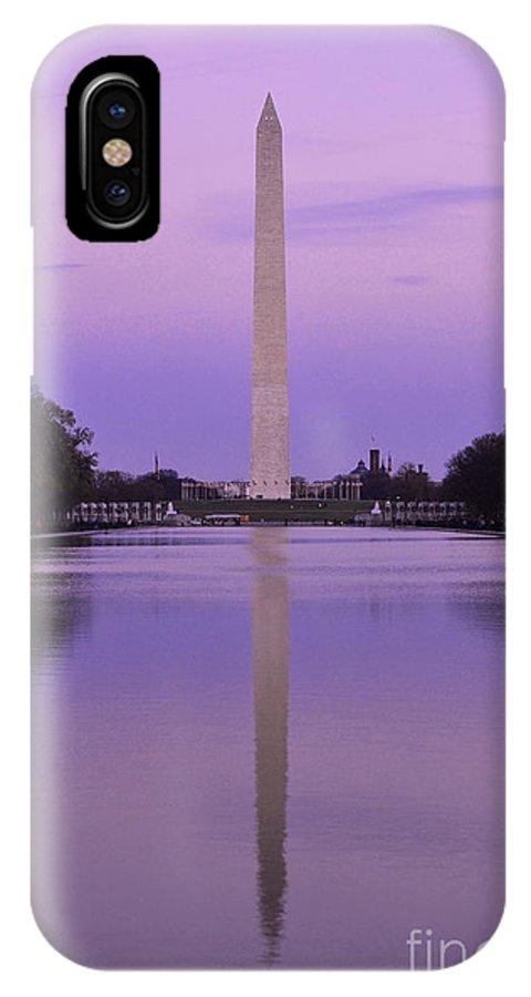 Washington Monument IPhone X / XS Case featuring the photograph Washington Monument by Joseph J Stevens