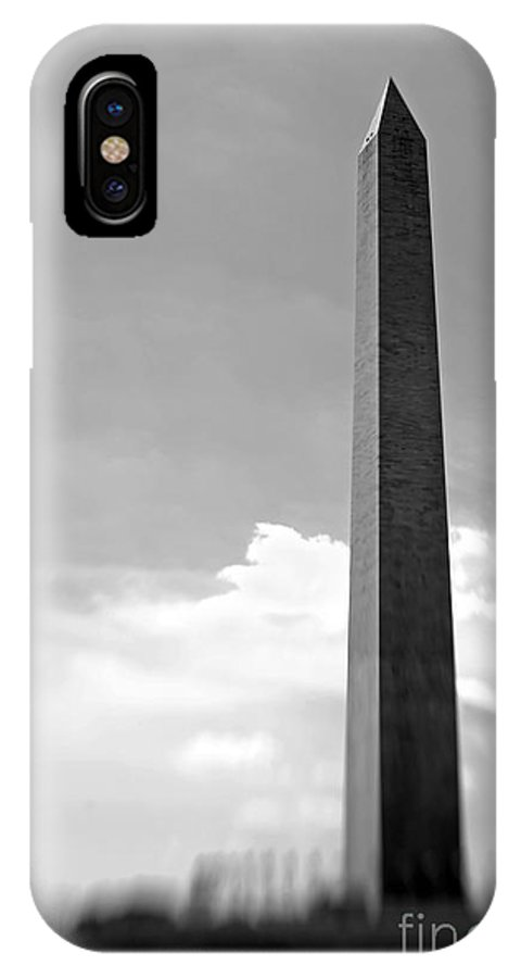 Washington IPhone X Case featuring the photograph Washington Monument by Tony Cordoza