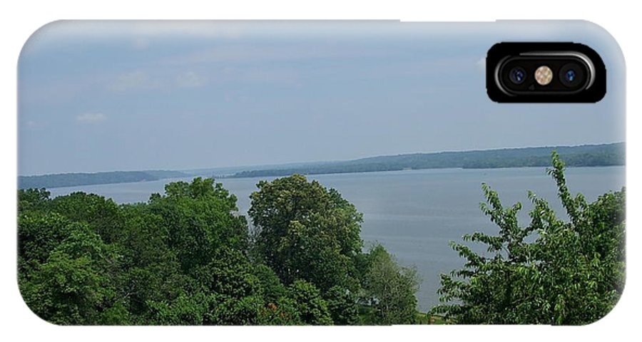 Lawn IPhone X Case featuring the photograph Washington's View From Mt. Vernon by Susan Wyman
