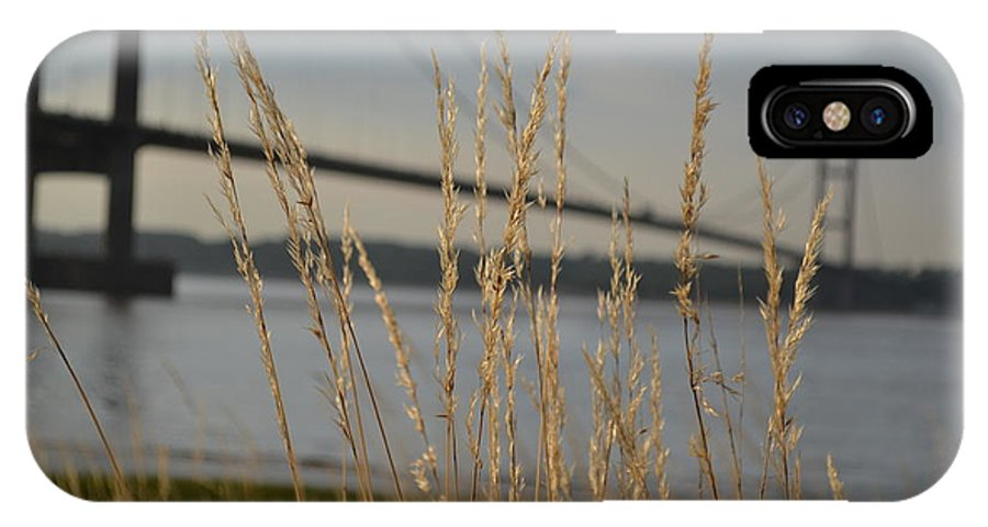 Humber IPhone X Case featuring the photograph Wasting Time By The Humber by Scott Lyons