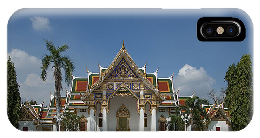 Bangkok IPhone X Case featuring the photograph Wat Phrasri Mahathat Ubosot Dthb1462 by Gerry Gantt