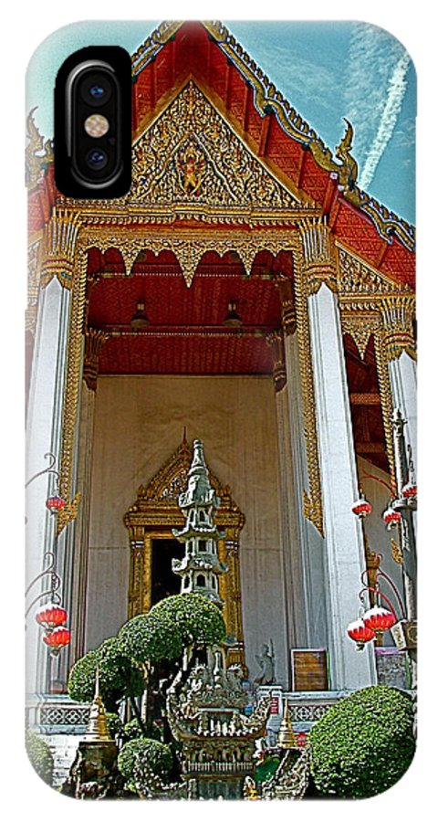 Wat Suthat In Bangkok IPhone X / XS Case featuring the photograph Wat Suthat In Bangkok-thailand by Ruth Hager