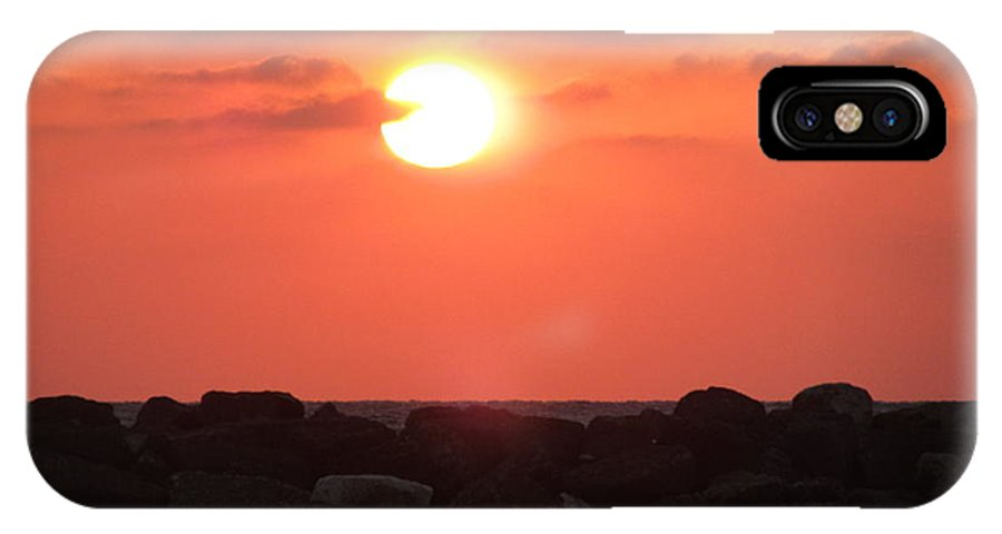 Sunset IPhone X Case featuring the photograph Watching The Sunset Over The Mediterranian by Daniel Benatar