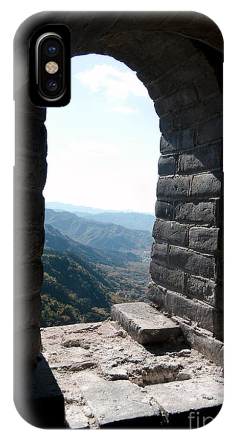 Window View From The Great Wall IPhone X Case featuring the photograph Watchtower Window View From The Great Wall 637 by Terri Winkler