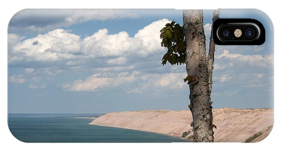 Lake Superior IPhone X / XS Case featuring the photograph Water And Sand by Linda Kerkau