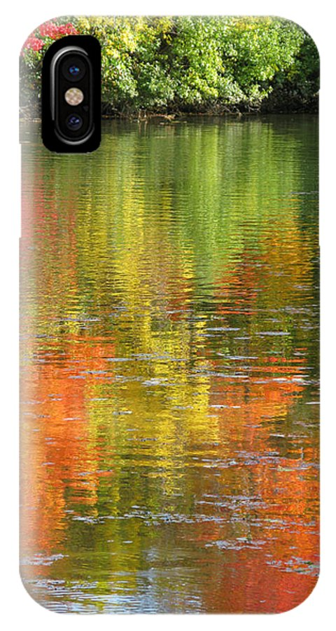 Autumn IPhone X Case featuring the photograph Water Colors by Ann Horn