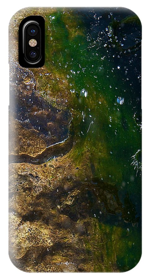 Abstract Water IPhone X Case featuring the photograph Water Crater by Britt Runyon