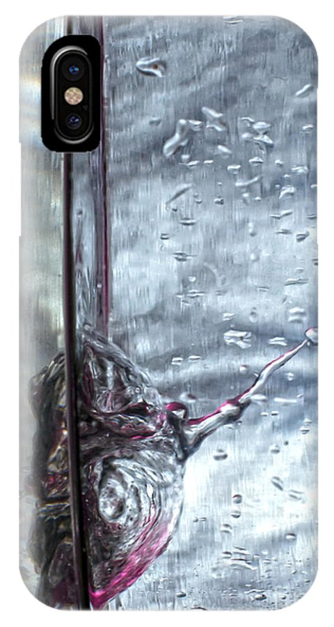 Abstract IPhone X Case featuring the photograph Water Drops Abstract2 by Stelios Kleanthous