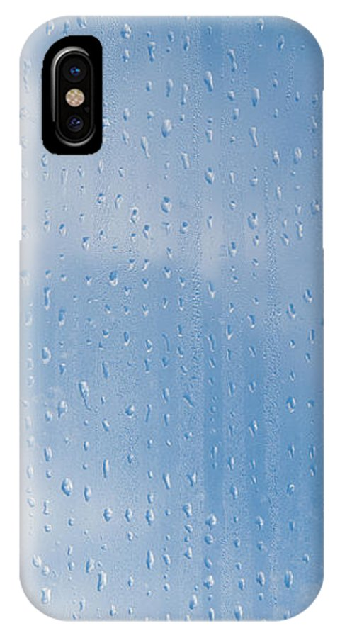 Abstract IPhone X Case featuring the photograph Abstract Of Condensation And Vapor by Arletta Cwalina