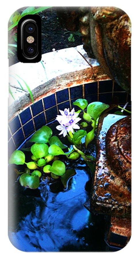 Photo IPhone X Case featuring the photograph Water Fountain by Simonne Mina