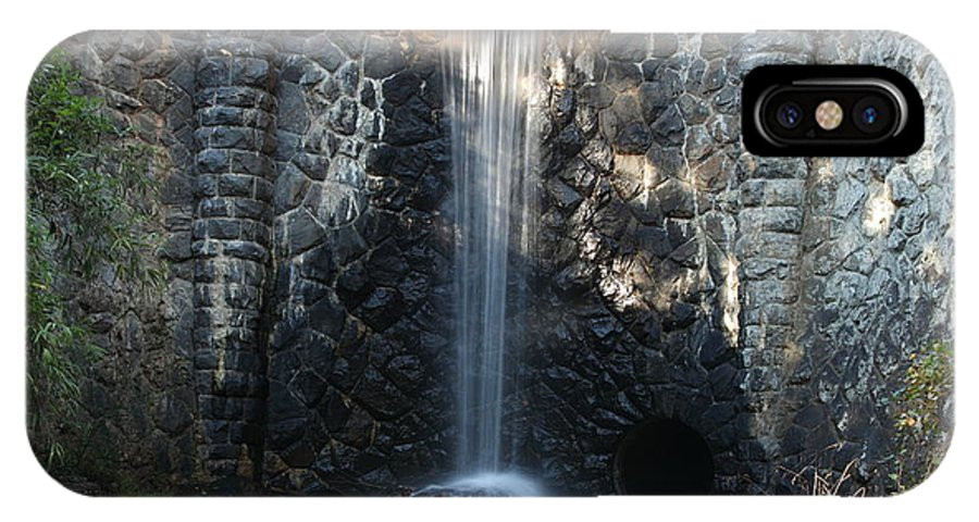 Bricks IPhone X Case featuring the photograph Water Over The Dam by Rod Flasch