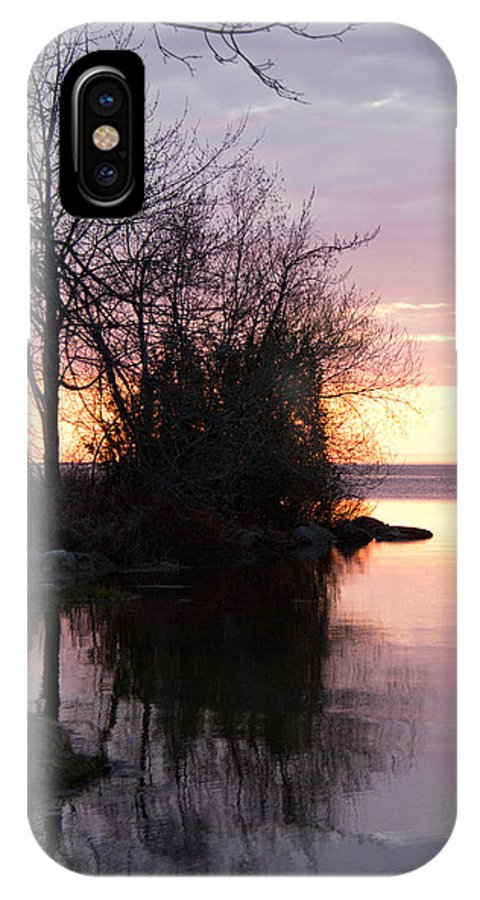 Evening IPhone X Case featuring the photograph Water Portrait by Beverley Beaudette