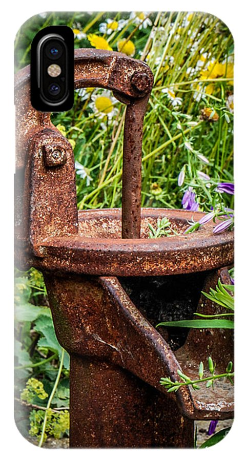 Pump IPhone X Case featuring the photograph Water Pump by Grace Grogan