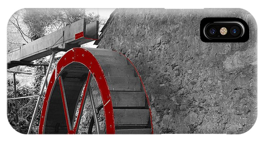 Water IPhone X / XS Case featuring the photograph Water Wheel. by Christopher Rowlands
