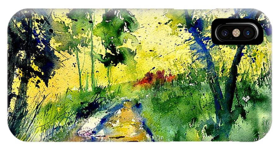 Landscape IPhone X Case featuring the painting Watercolor 318012 by Pol Ledent