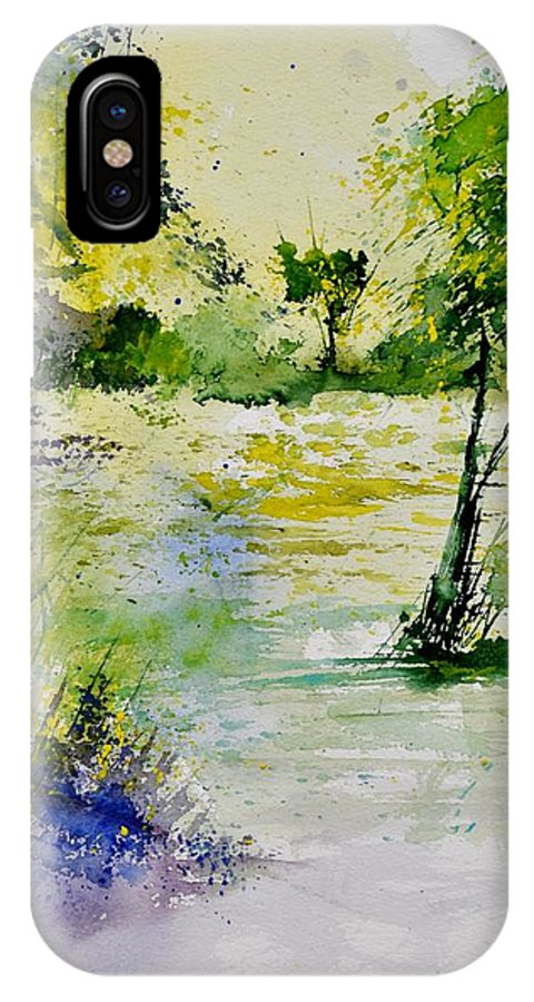 Landscape IPhone X Case featuring the painting Watercolor 413022 by Pol Ledent