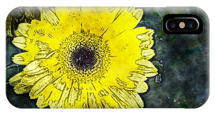 Daisy IPhone X Case featuring the photograph Watercolor Daisy by Fred Ziegler