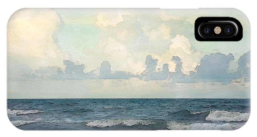 Landscape IPhone X Case featuring the photograph Watercolor Photograph Of Atlantic Ocean by Louise Hill