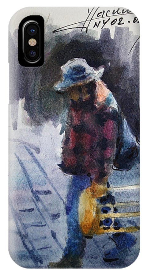 Watercolor Sketch IPhone X Case featuring the drawing Watercolor Sketch by Ylli Haruni