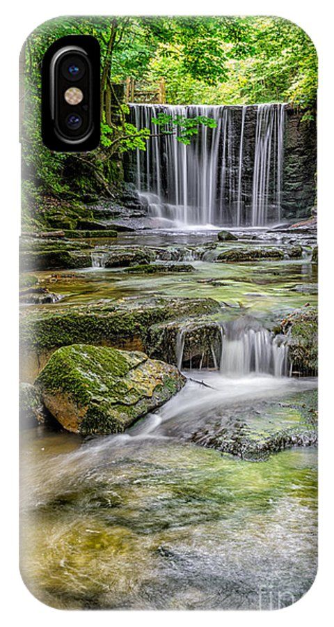Wrexham IPhone X / XS Case featuring the photograph Waterfall by Adrian Evans