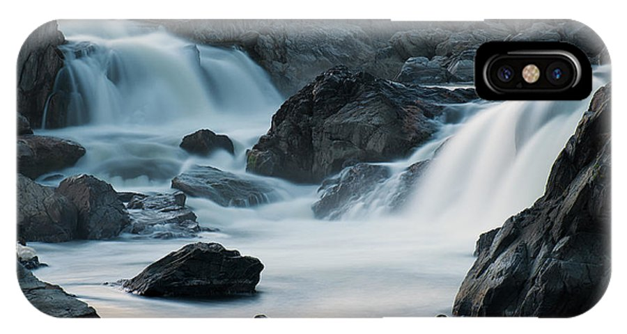 2010 IPhone X Case featuring the photograph Waterfall After Dusk by Benjamin DeHaven