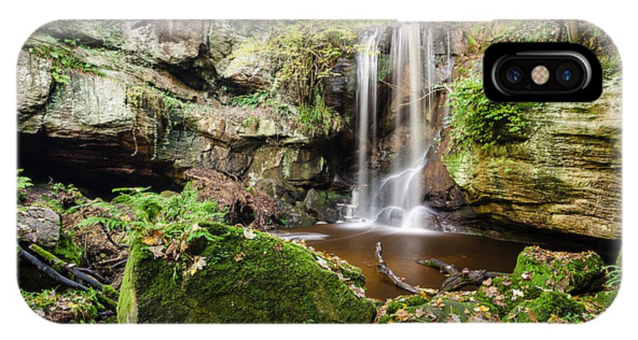 Northumberland IPhone X Case featuring the photograph Waterfall At Roughting Linn by David Head