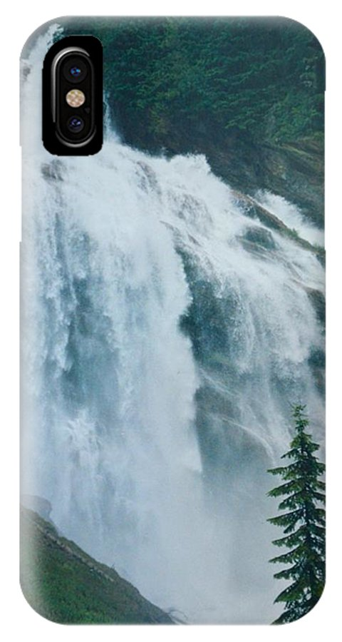 Landscape IPhone X Case featuring the photograph Waterfall In British Columbia by Dolores Bruni