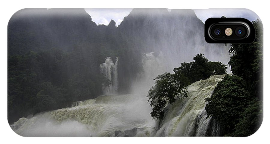 IPhone X Case featuring the photograph Waterfall by Qing
