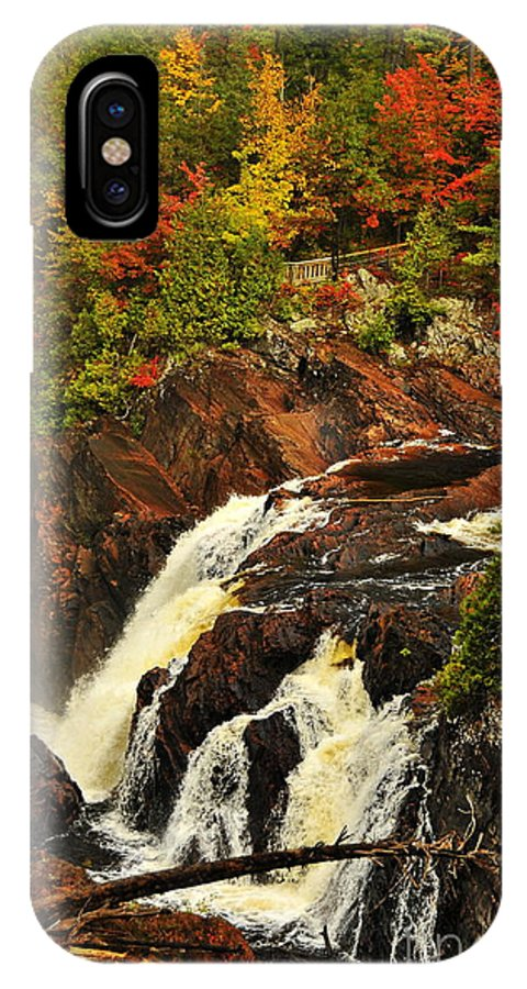 Michael Cummings IPhone X / XS Case featuring the photograph Waterfall Quebec 2 by Michael Cummings
