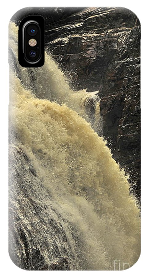 Michael Cummings IPhone X / XS Case featuring the photograph Waterfall Quebec 3 by Michael Cummings