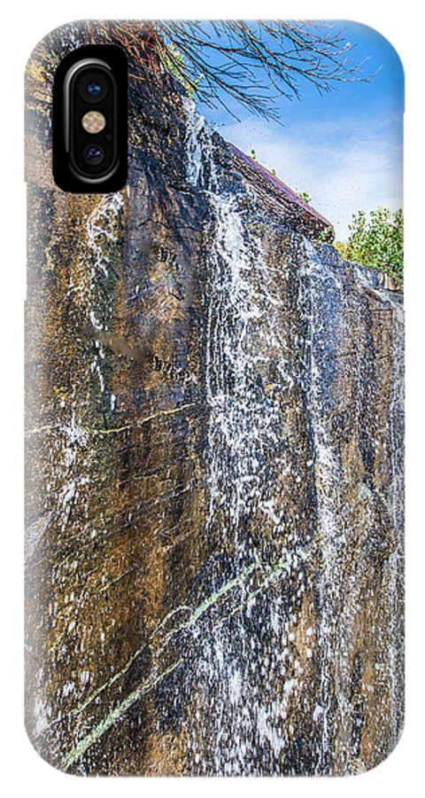 Waterfall IPhone X Case featuring the photograph Waterfall by Rohit Nair