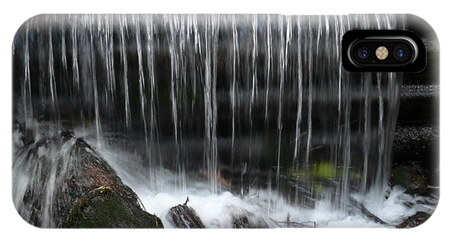 Water IPhone X Case featuring the photograph Waterfall by Steven Woodard