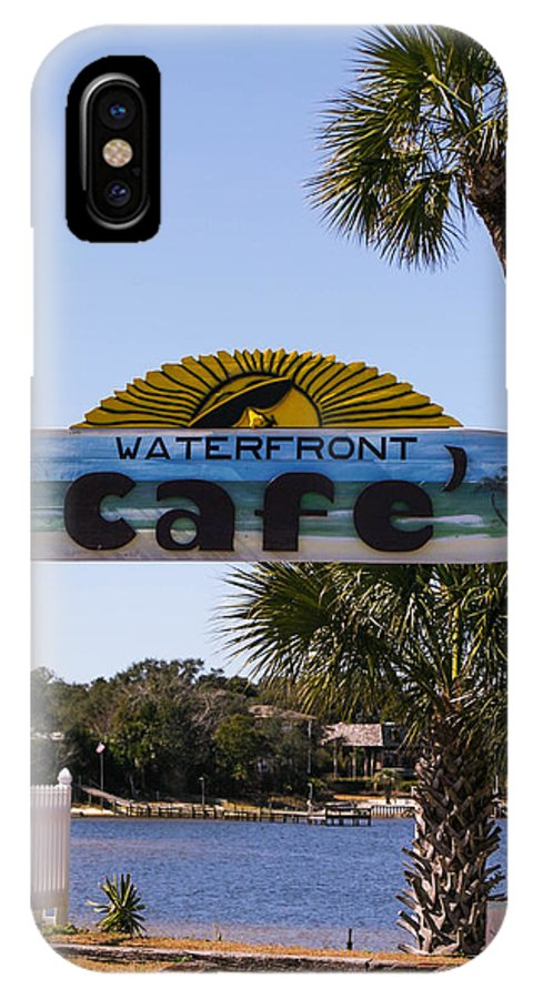 Waterfront Caf� IPhone X Case featuring the photograph Waterfront Cafe by Mechala Matthews