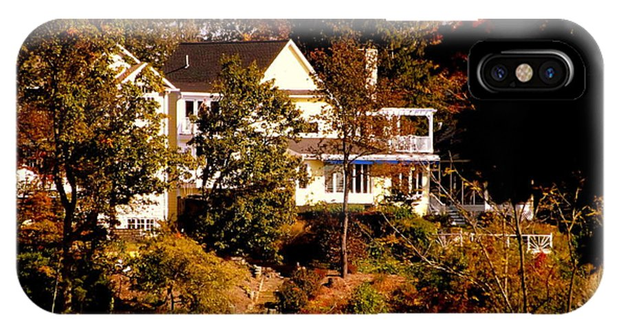 Fall IPhone X Case featuring the photograph Waterfront Home In Fall by John Potts