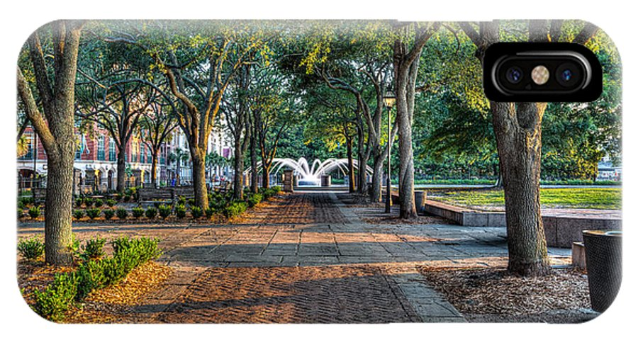 Waterfront Park IPhone X Case featuring the photograph Waterfront Park by Walt Baker