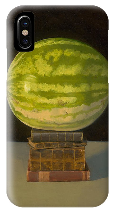Fruit IPhone X Case featuring the painting Watermelon Portrait by H Chris Ross