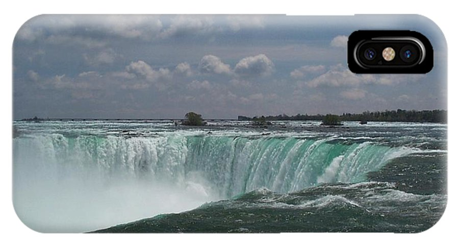 Horseshoe Falls IPhone X Case featuring the photograph Water's Edge by Barbara McDevitt