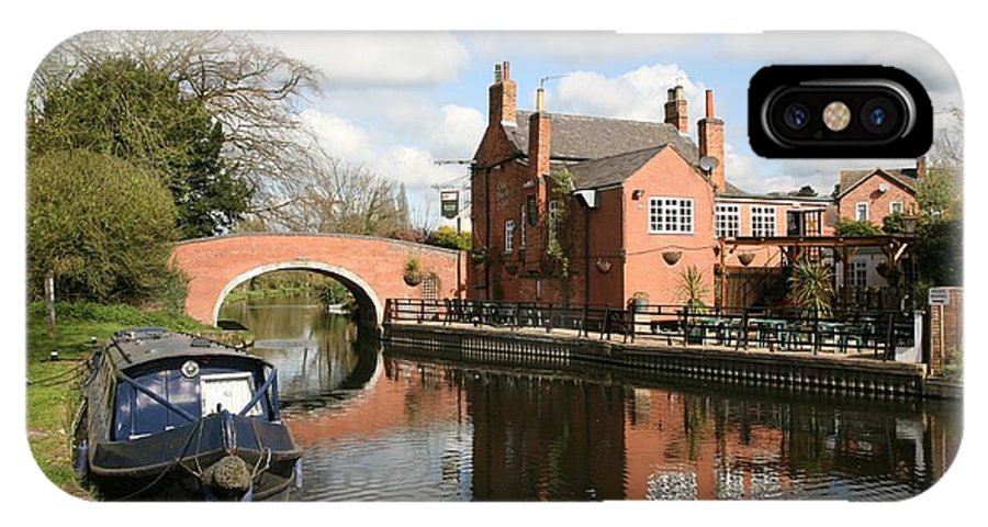 Navigation Inn IPhone X Case featuring the photograph Waterside Pub by Mark Severn